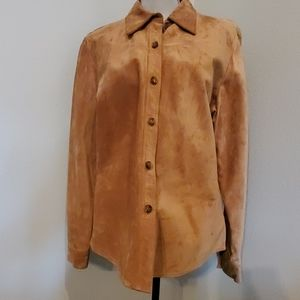 Vintage Suede Shirt by Gap in Brown